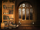 Wizard's library — Stock Photo