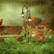 Enchanted fairy garden — Stockfoto