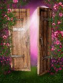 очарованный дверь — Стоковое фото