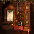 Old Christmas room — Stock Photo #13526255