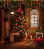 Christmas room with toys — Stock Photo