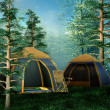 Camping place — Stock Photo