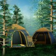 Stock Photo: Camping place