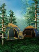 Lugar de camping — Foto de Stock