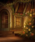 Christmas cottage — Stock Photo
