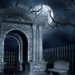 Mausoleum with a bench — Stock Photo #13721827