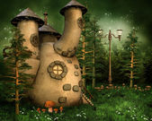Gnome house in the forest — Stock Photo