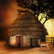 Small African hut — Stock Photo