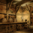 Old fantasy tavern — Stock Photo