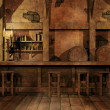Fantasy tavern interior — Stock Photo