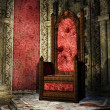 Stock Photo: Crimson throne room