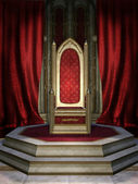 Red throne room — Stock Photo