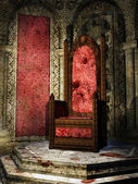 Crimson throne room — Stock Photo