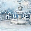 Royalty-Free Stock Photo: Winter fountain