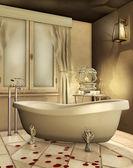 Golden bathroom — Fotografia Stock