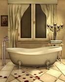 łazienka ze świecami — Zdjęcie stockowe
