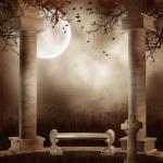 Постер, плакат: Autumnal gothic scenery