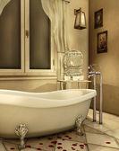 Alte badewanne — Stockfoto