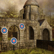 Medieval shooting place — Stock Photo