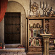 Alchemist's study - Stock Photo