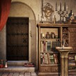 Stock Photo: Alchemist's study