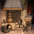 Fantasy alchemical furnace - Stock Photo