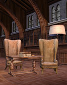 Interior of an old library — Stock Photo