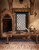 Fantasy study room — Stock Photo