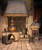 Fantasy alchemical furnace — Stock Photo