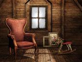 Vintage attic — Stock Photo