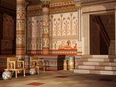 Fantasy Egyptian temple — Stock Photo