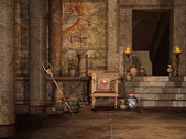 Egyptian temple interior — Stock Photo