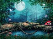 树的一个池塘 — 图库照片