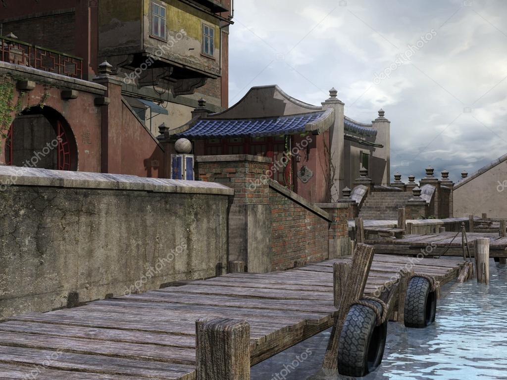 http://st.depositphotos.com/1756323/1399/i/950/depositphotos_13990909-Wooden-dock-in-asian-town.jpg