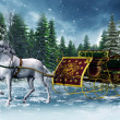 Vintage sleigh and a horse — Stock Photo #15216815
