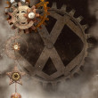 Background with steampunk elements - Stock Photo