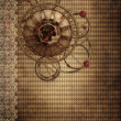 Vintage background with a rusty cogwheel - 图库照片