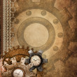 Steampunk background with ornaments — 图库照片