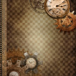 Vintage background with rusty objects - Stock Photo