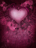Pink background with a heart — Stock Photo