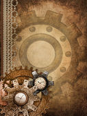 Steampunk background with ornaments — Stock Photo