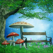 Royalty-Free Stock Photo: Fantasy park with mushrooms