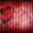 Stock Photo: Gothic background with a heart