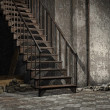 Ruined stairs — Stock Photo