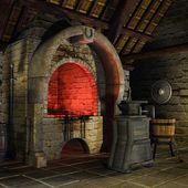 Medieval forge — Stock Photo