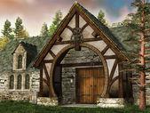Oude middeleeuwse gebouw — Stockfoto