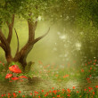 Royalty-Free Stock Photo: Fantasy tree by a pond
