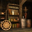 Stock Photo: Steampunk basement