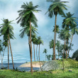 Shore of a tropical island — Stock fotografie