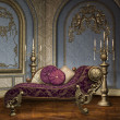 Baroque palace room — Stock Photo